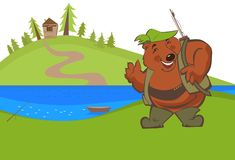 Bear on fishing Royalty Free Stock Photography