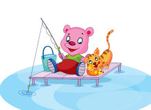 Bear_Fishing 图库摄影