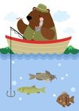 Bear Fishing Royalty Free Stock Images