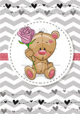 Bear with a flower Royalty Free Stock Photo