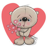 Bear with flowers Royalty Free Stock Photos