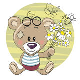 Bear with flowers Royalty Free Stock Photo
