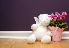 Bear and Flowers Royalty Free Stock Photos