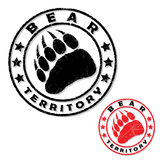 Bear footprint stamp Stock Photography