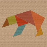 A bear formed from wooden geometric forms, tangrams Royalty Free Stock Photos
