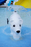 Bear fountain in a water park Royalty Free Stock Photos