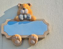 Bear with a framework in his paws Royalty Free Stock Photo