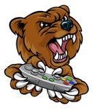 Bear Gamer Player Mascot Stock Photo