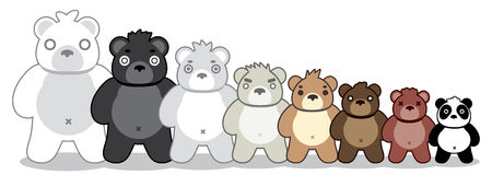 Bear gang. Standing, graphic vector, cute illustration Stock Photography