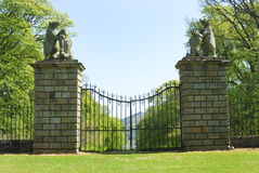 The Bear Gates at Traquair Stock Photos