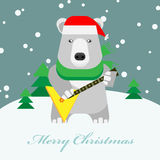 Bear with a gift box Royalty Free Stock Images