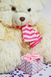 Bear with a gift box Royalty Free Stock Photography