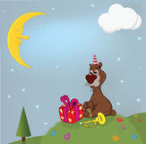 A bear and gifts Royalty Free Stock Photo