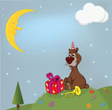bear and gifts . Cartoon Royalty Free Stock Photos