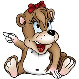 Bear Girl Stock Photo