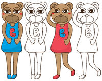 Bear girl coloring Royalty Free Stock Photography