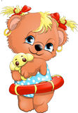 Bear girl Stock Image