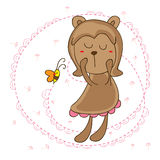 Bear girl friend Stock Image