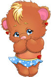 Bear girl Stock Images