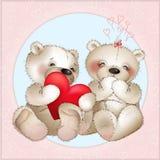 Bear gives his heart Stock Photos