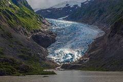 Bear Glacier in Alaska, USA stock photo