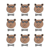 Bear with glasses Royalty Free Stock Photo
