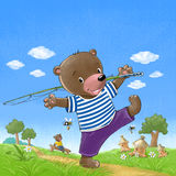 Bear go fishing Stock Photo
