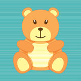 Bear greeting card Royalty Free Stock Images