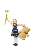 Bear in the hands of a girl Royalty Free Stock Image