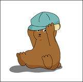 Bear with hat cartoon. Design for website, company, shirt, travel, industry,drawing book Stock Images