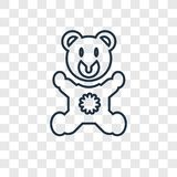 Bear Hat concept vector linear icon isolated on transparent back royalty free illustration