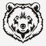 Bear head cartoon vector Royalty Free Stock Photos