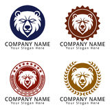 Bear Head Concept Logo Royalty Free Stock Photography