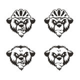 Bear Head Logo Mascot Emblem. Angry Bear Head Logo Mascot Emblem vector illustration mountain bike helmet Stock Image