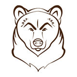 Bear Head Logo Mascot Emblem. Designed using outline graphic vector Stock Images