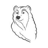 Bear head logo template mascot emblem Royalty Free Stock Photography