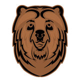 Bear head mascot for a sports team. Vector logo. Stock Image