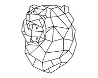 Bear head polygon  Stock Image