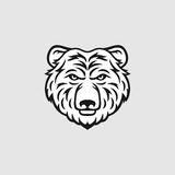 Bear head vector illustration Royalty Free Stock Photos