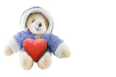 Bear with heart Stock Images