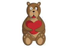 Bear with Heart Royalty Free Stock Image