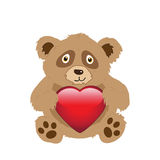 Bear with heart Stock Image