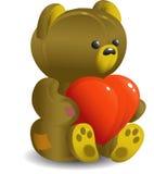 Bear with heart stock photo