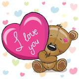 Bear with heart Royalty Free Stock Photo