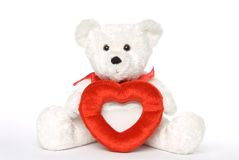 Bear with Heart Frame 001 Royalty Free Stock Photos