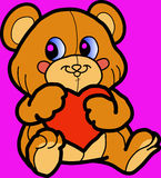 Bear with heart. Royalty Free Stock Images