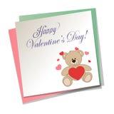Bear and heart Royalty Free Stock Image