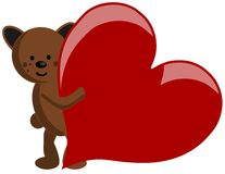 Bear with heart Stock Photos