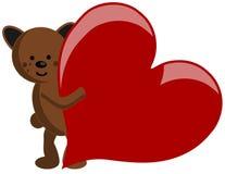 Cute Bear with heart isolated stock photos