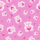 Bear with heart seamless Royalty Free Stock Image